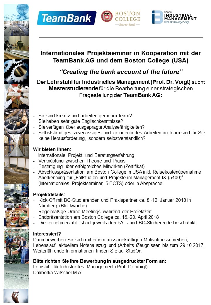 """Seminar """"International Project Seminar in cooperation with the ..."""