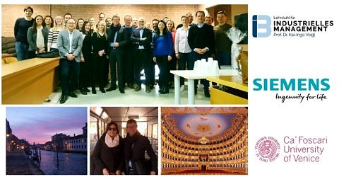 "Towards entry ""SIEMENS EMBA successfully completes the module ""Marketing"" in Venice"""