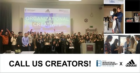 "Towards entry ""CALL US CREATORS! Students develop extraordinary solutions for adidas in the course Organizational Creativity"""