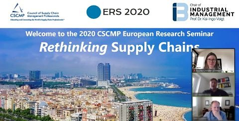 "Towards entry ""Research gone virtual part II: Participation at CSCMP European Research Seminar (ERS) on Logistics and SCM 2020"""